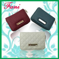 Small single zipper design leather purses and wallets for kids/women/men
