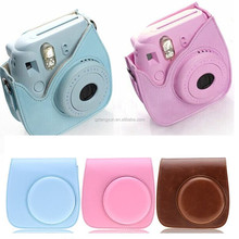 Fashion pu leather protective bag for fujifilm instax mini 8