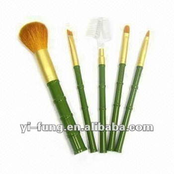 Makeup Brush Sets with Hand-made Bamboo Shape Handle
