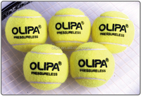 ITF standard type 2 high quality professional pressureless coaching training tennis ball premium woolen felt