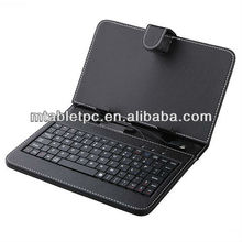7 inch Tablet Mini USB 2.0 Keyboard Leather Case with mic usb port