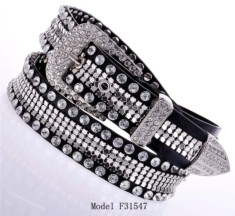 2015 Popular Crystal And Rhinestone Fancy Style Fashion Belt For Girls