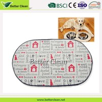 Printed microfiber home pet flooring used washable puppy training pads