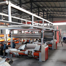steam type of Automatic 3/5 layer corrugated cardboard production line in hebei price