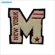 Newest selling attractive style letter design fashion chenille embroidery patches