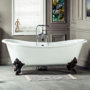 Regal Designer Cast Iron Roll Top Freestanding Bathtub