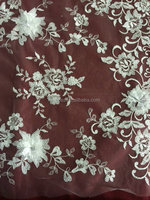 embroidered lace fabric for wedding dress/ apparel/ dresses