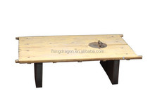 Chinese antique wood door top coffee table