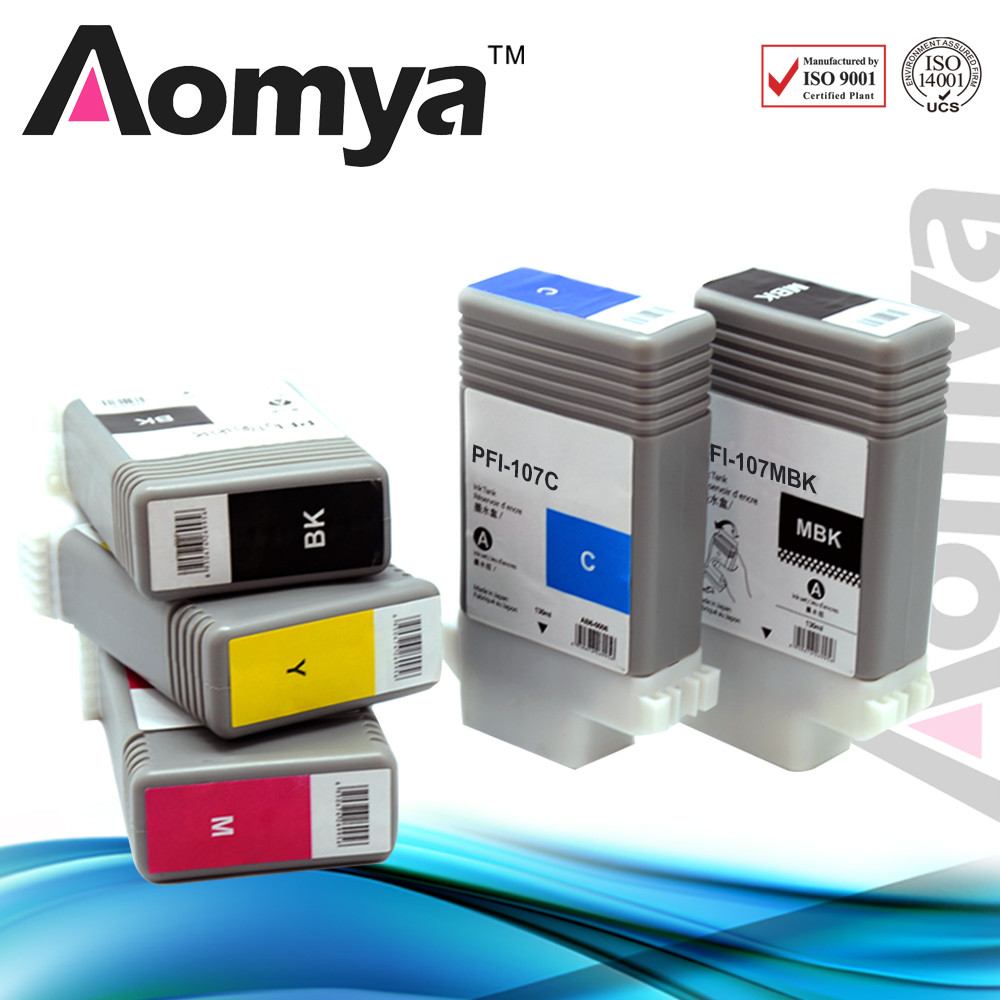 New Technology PFI 107 compatible ink cartridge for Canon iPF670 / iPF680 / iPF685 / iPF770 / iPF780 / iPF785 Printer