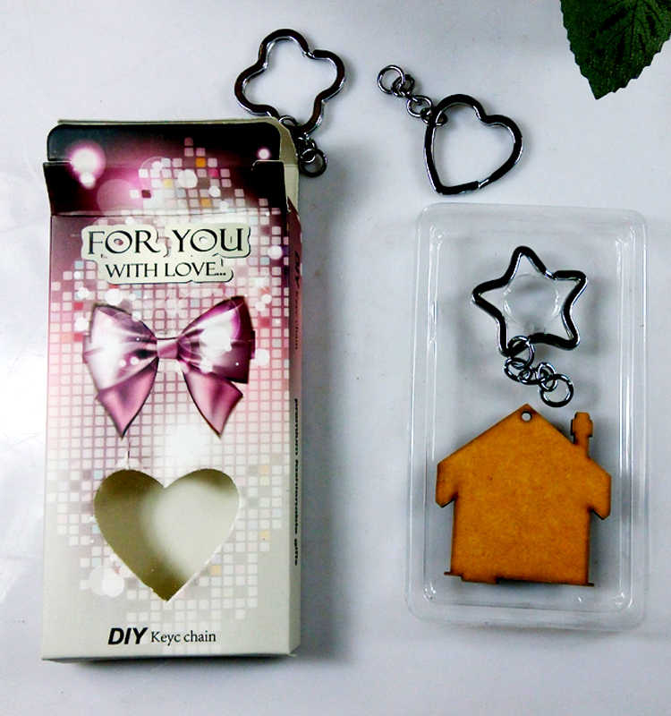 Cheap MDF Material Sublimation Keychain for Custom Logo Print Gift