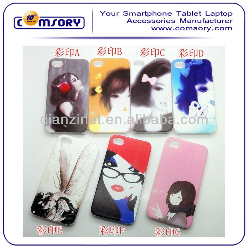 lovely girl pattern Hard Phone Case for iPhone 5 5G Paypal Acceptable