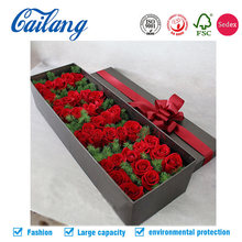Free sample shipping handmade rigid flower packaging paper box with lid