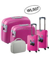 carry-on type suitcase luggage set/ fancy travel luggage set/ 5PCS luggage set---WL507