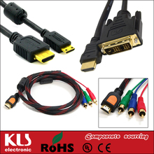 Good quality 21 pin scart to 3 rca cable UL CE ROHS 078 KLS brand