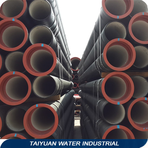 Class C Black Zinc Coated Cement Lining Ductile Iron Pipes