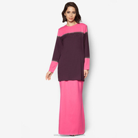 High Quality Wholesale Muslim Gown For Females Long Plus Size Baju Kurung Maxi Kaftan 2016 Dress Patchwork BJ046