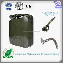 5Gallon Military Green Metal Fuel jerry can with spout