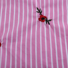 china wholesale clothing suppliers fashion plain satin stripe cotton embroidery fabric