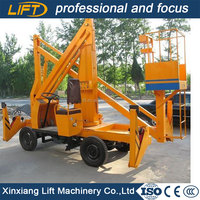 Self-propelled articular boom sky lift with strong diesel power