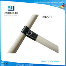 45 degree metal joint for pipe rack system