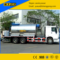 Rubber Asphalt /Bitumen Distributor Truck 13000L for Road Construction