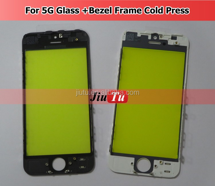 For iPhone 5G Front Glass Assembly OCA Frame Bezel Only Use The LCD Glass laminator Machine