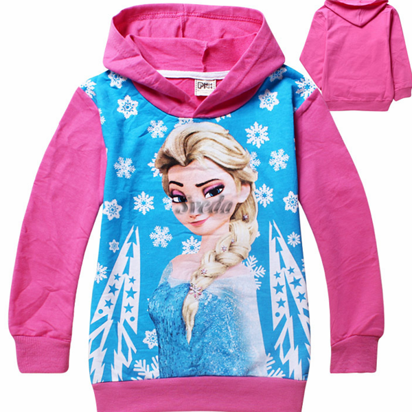 Wholesale China supperliers frozen style Children hoodies hooded Long Sleeve Top T-shirt sweatshirts Hoodies