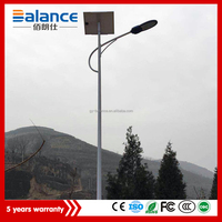Remote controlled lithium battery powered super bright operated solar led street light