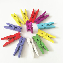 decorative clip of colored wooden clothespin mini craft clothes pegs