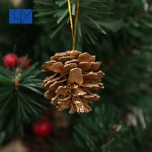 Customized Wood Brown Pine Pendant Christmas Tree Ornament