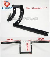 "Black Drag 1"" Z Bars Chopper styling Handle bar Motorcycle Pullback Handlebar Fits for Choppers Bobber Cafe racer Triumph BSA"