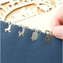 Silver-plated lucky Stainless Steel Flat Animal Bookmarks