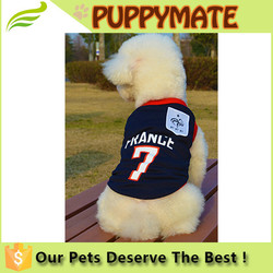 Cheap number printing dog clothes for sale/cloth for dogs