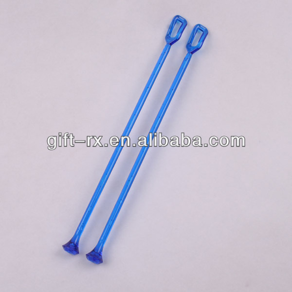 Plastic coffee stirrers used in cup or bar for stiring