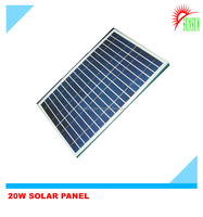 Glass laminated 20W 18V polycrystalline solar panel
