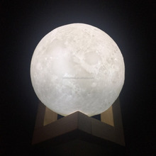 Manufactory Room Decoration 8CM 15CM LED White Yellow 3D Moon Lamp