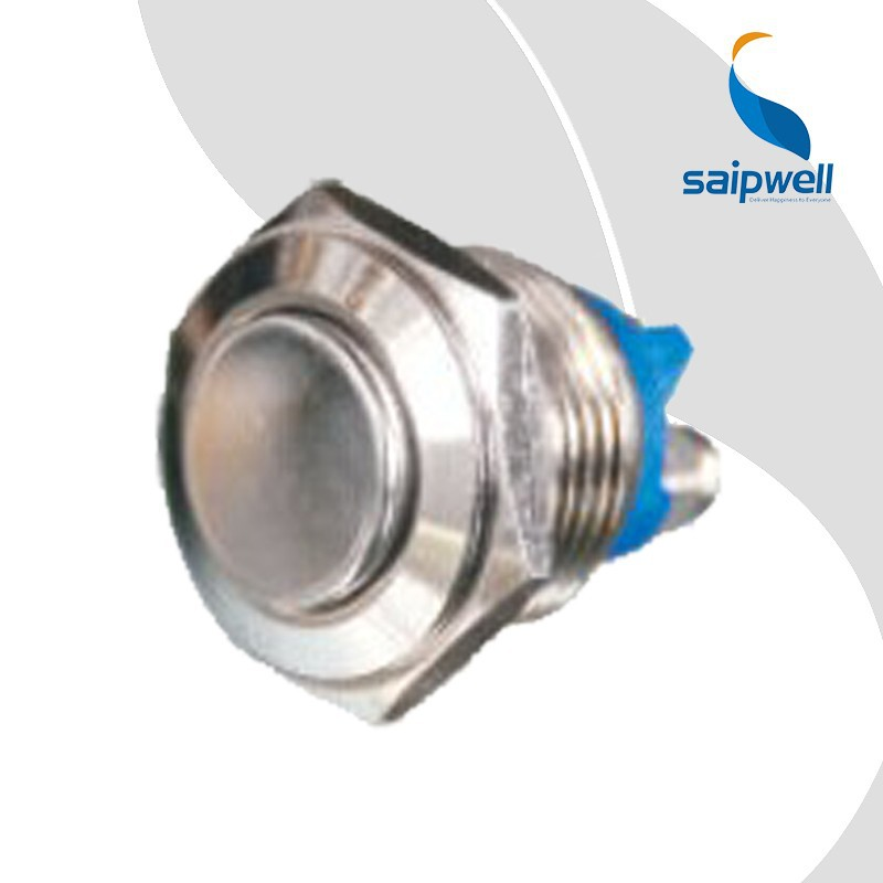 Saip/Saipwell 8mm 12mm 16mm 22mm 25mm IP65 Stainless Steel Waterproof Metal Push Button Switch