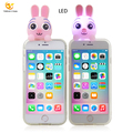 LED 3d silicone cartoon phone case for iphone 8