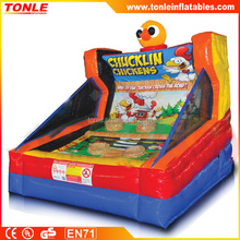 Chucklin' Chickens Inflatable Game/ adults inflatable sport game for sale