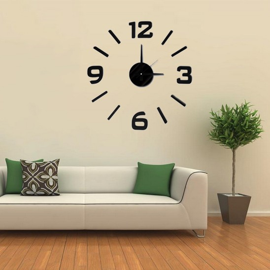 large 3D wall clock Home Decor wall clock