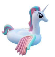 inflatable colorful wing unicorn pool float in stock