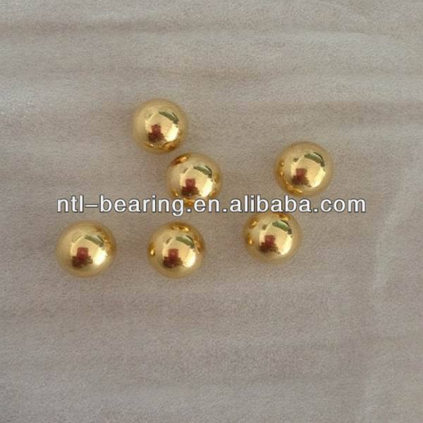 Copper plating gold hollow ball with slight weight