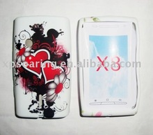 Rubber soft TPU case skin back cover for Sony X8