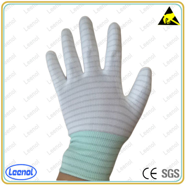 LN-8007P ESD Strip Carbon Palm antistatic <strong>glove</strong>