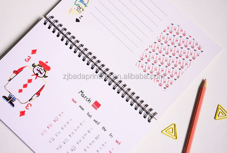 2016 Big Cute Desk Calendar Work Schedule/Custom Wholesale Table Standing Calendar