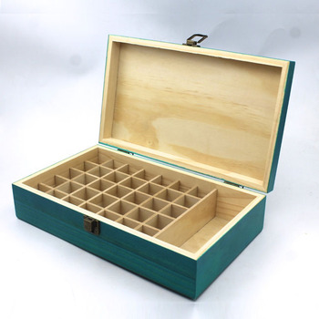 Hinged Lid Blue Color Essential Oil Gift Box