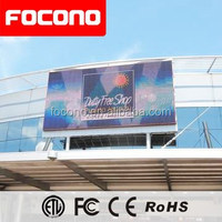Focono factory 16mm outdoor full color HD electric led advertising billboard