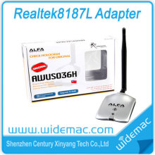 ALFA AWUSO36H 1000mW High Power Realtek 8187L Alfa Antenna WiFi USB Adapter