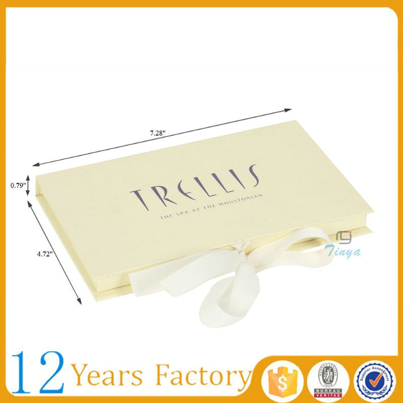 Matte ribbon platform gift credit card box