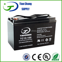 12V 100Ah Rechargeable lead acid maintenance free solar battery